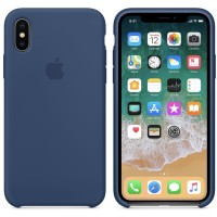 iphone X silicone case - dark blue
